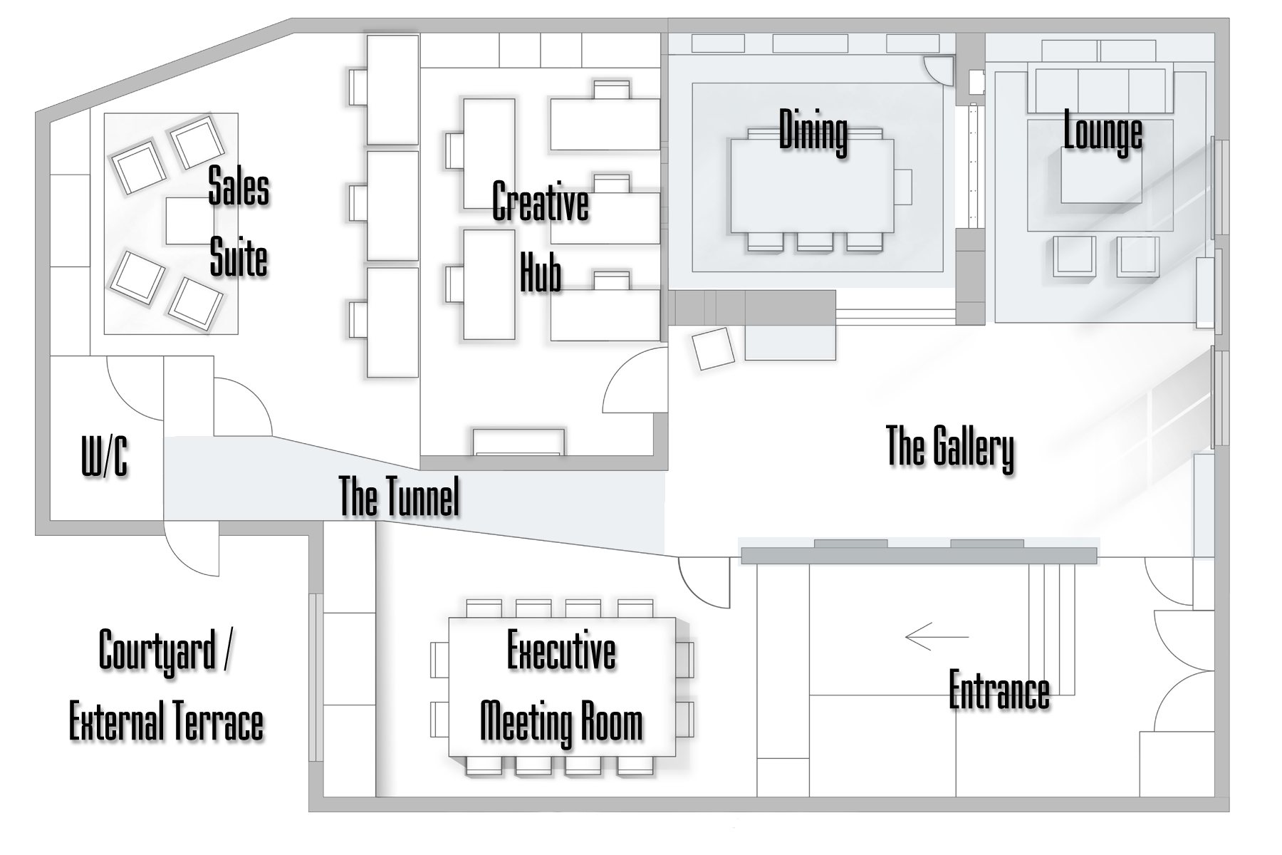 Asco Lights Showroom floorplan